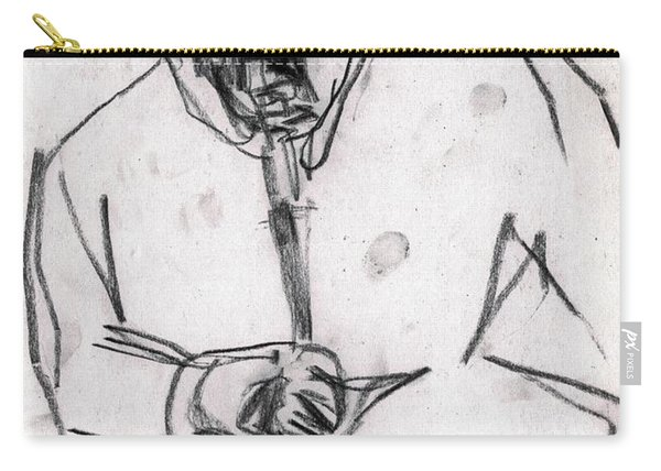 Man In Top Hat And Cane Carry-all Pouch
