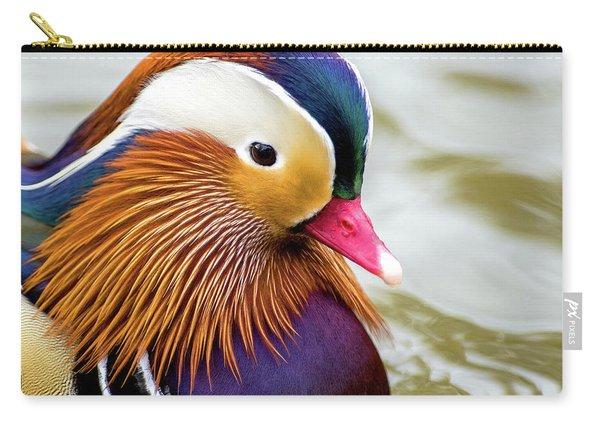 Mandarin Duck Portrait Carry-all Pouch