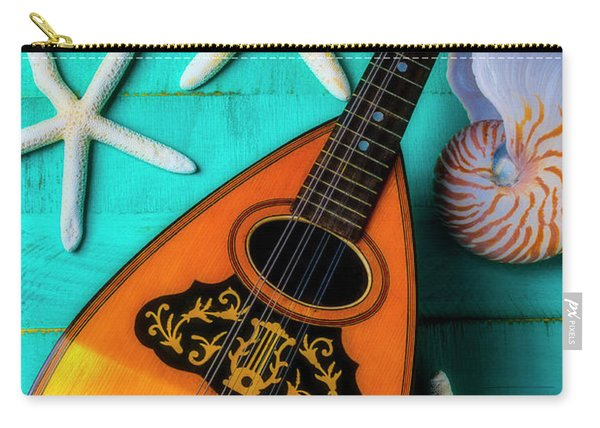 Mandolin And White Starfish Carry-all Pouch