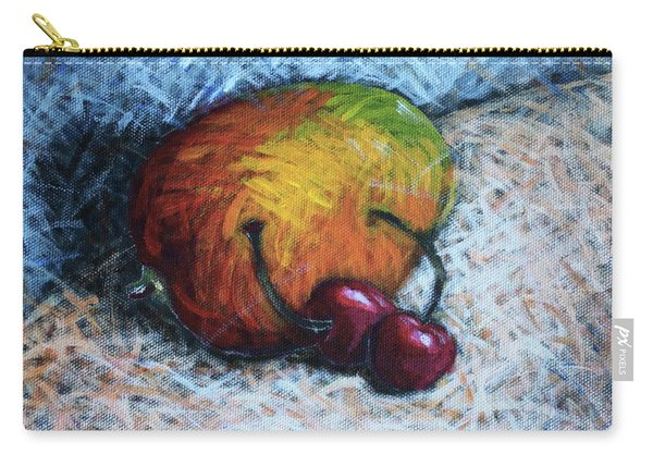 Mango And Cherries Carry-all Pouch