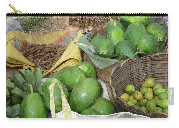 Mangos, Turmeric And Green Bananas  Carry-all Pouch