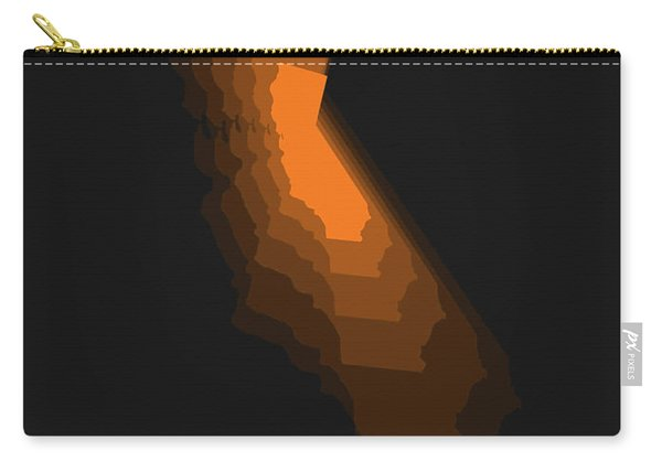 Map Of California Orange Carry-all Pouch