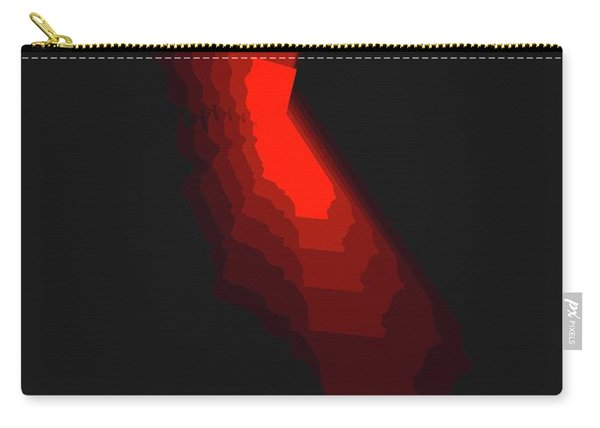 Map Of California Red Carry-all Pouch