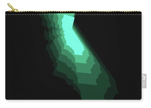 Map Of California Teal Carry-all Pouch