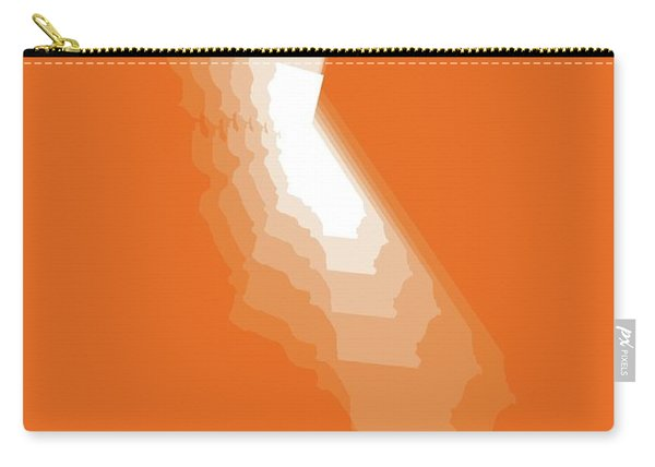 Map Of California White Carry-all Pouch