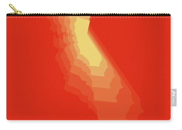 Map Of California Yellow Carry-all Pouch
