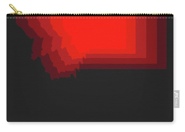 Map Of Montana Red Carry-all Pouch