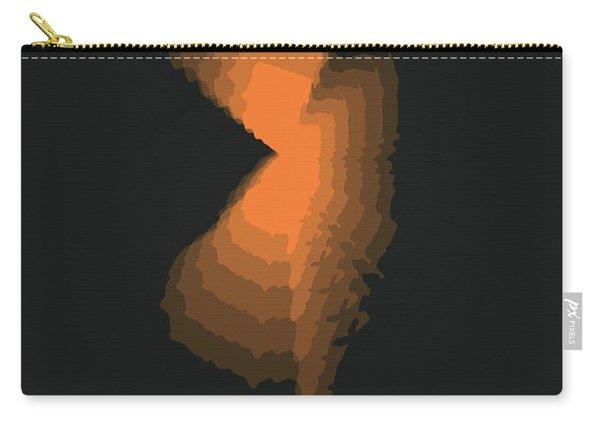 Map Of New Jersey, Orange Carry-all Pouch