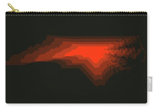 Map Of North Carolina, Red Carry-all Pouch