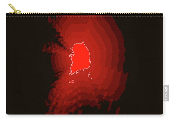 Map Of South Korea Carry-all Pouch