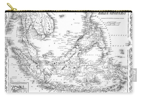 Map Of The East Indies  Engraving Carry-all Pouch