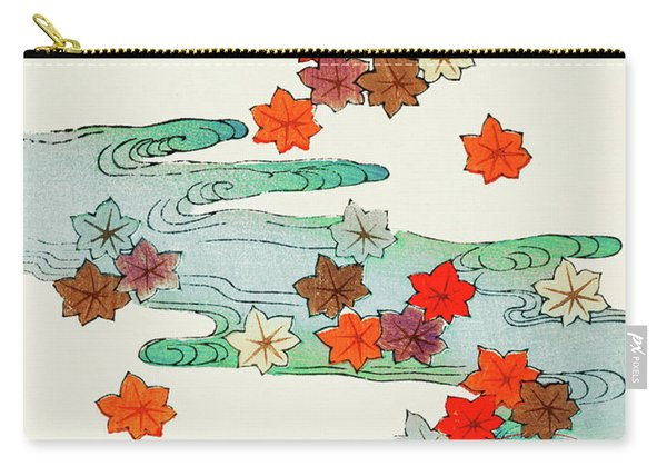 Maple Leaf - Japanese Traditional Pattern Design Carry-all Pouch