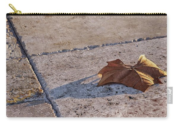 Maple Leaf On Travertine Carry-all Pouch