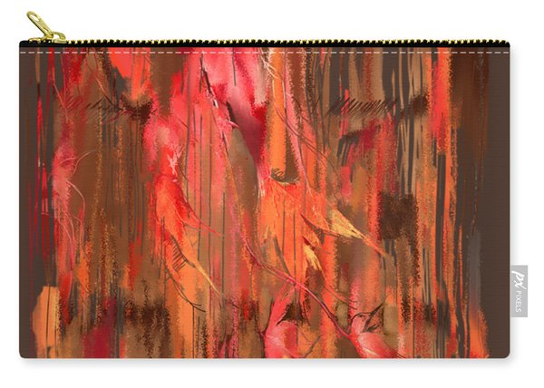 Carry-all Pouch featuring the digital art Maple Leaf Rag by Gina Harrison