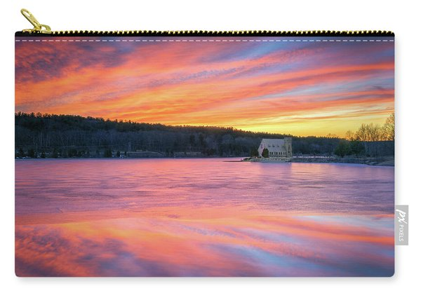 March Sunset At The Old Stone Church Carry-all Pouch