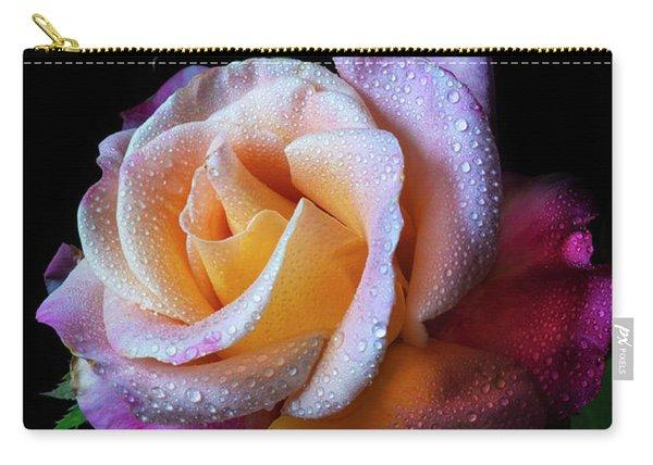 Mardi Gras Rose Portrait Carry-all Pouch