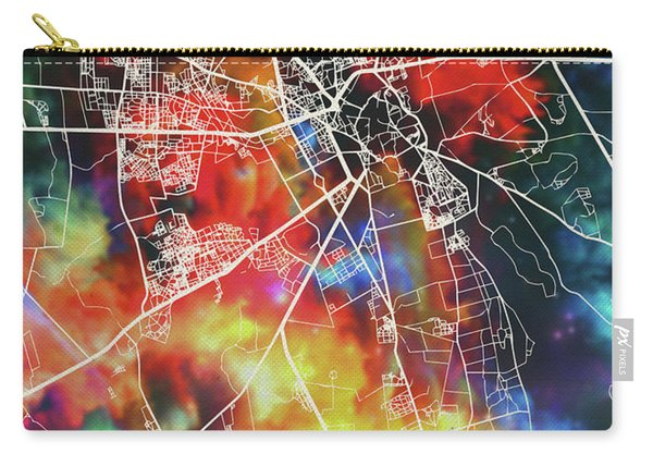 Marrakesh Morocco Watercolor City Street Map Carry-all Pouch