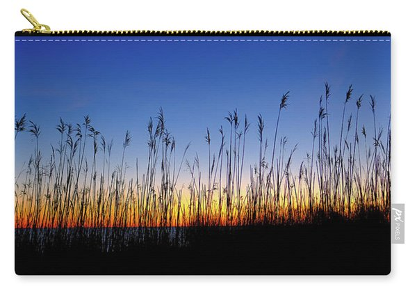 Carry-all Pouch featuring the photograph Marsh Grass Silhouette  by Jeff Sinon