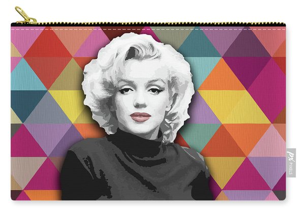 Carry-all Pouch featuring the painting Marylin Monroe Diamonds by Carla Bank