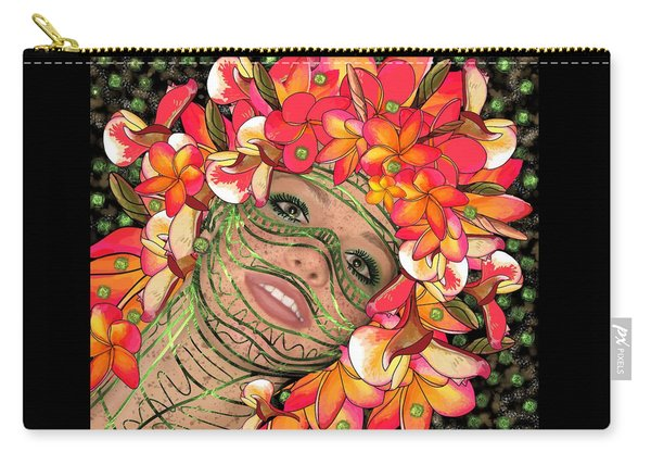 Mask Freckles And Flowers Carry-all Pouch