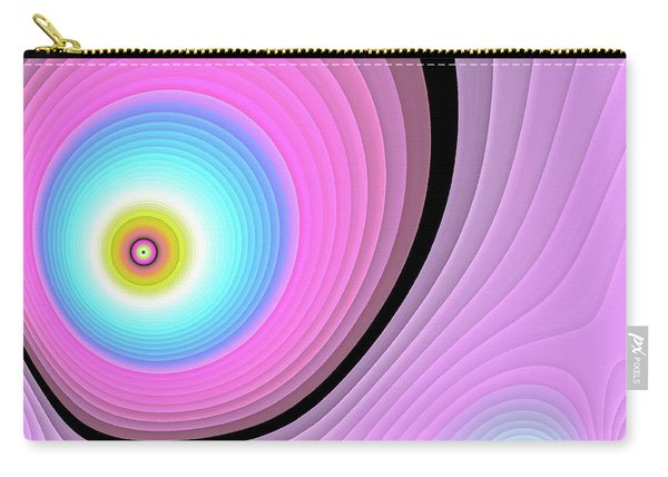 Carry-all Pouch featuring the digital art Massive Hurricane Pink by Don Northup