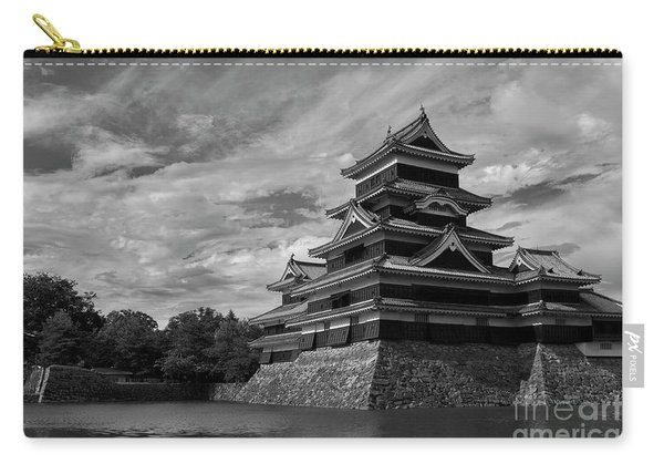 Matsumoto Castle Japan Black And White Carry-all Pouch