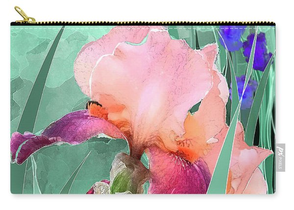 Carry-all Pouch featuring the digital art May Garden by Gina Harrison