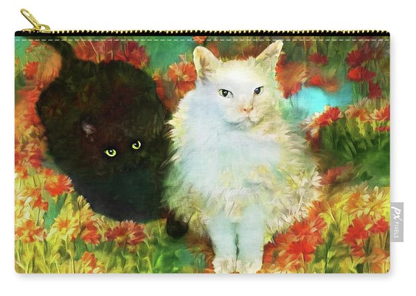 Mccartney And Silky In The Garden Carry-all Pouch