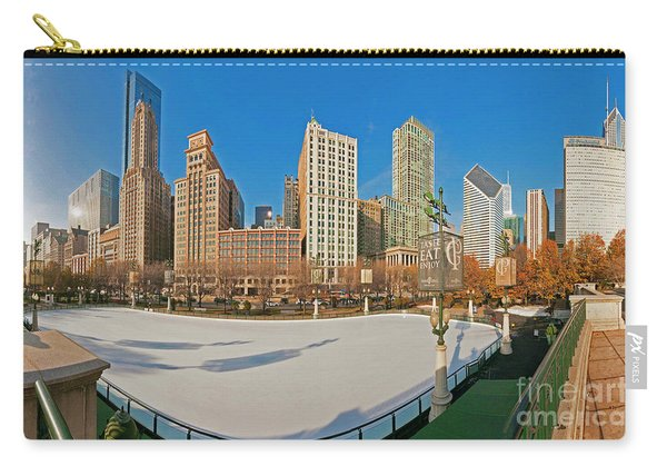 Mccormick Tribune Plaza Ice Rink And Skyline   Carry-all Pouch