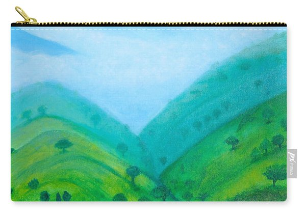 Carry-all Pouch featuring the painting Medellin Natural by Gabrielle Wilson-Sealy