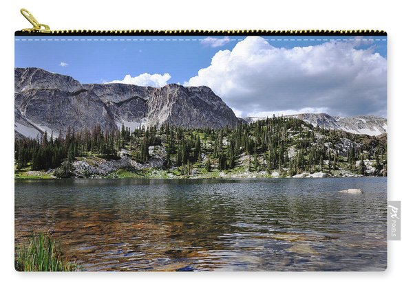 Medicine Bow Peak And Mirror Lake Carry-all Pouch
