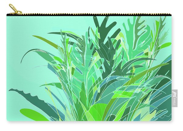 Carry-all Pouch featuring the digital art Melange by Gina Harrison
