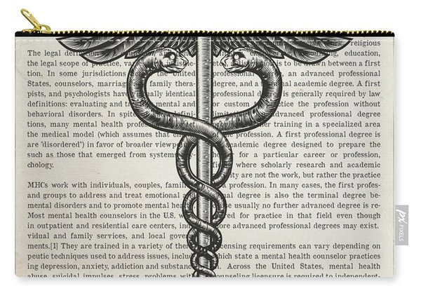 Mental Health Counselor Gift Idea With Caduceus Illustration 01 Carry-all Pouch