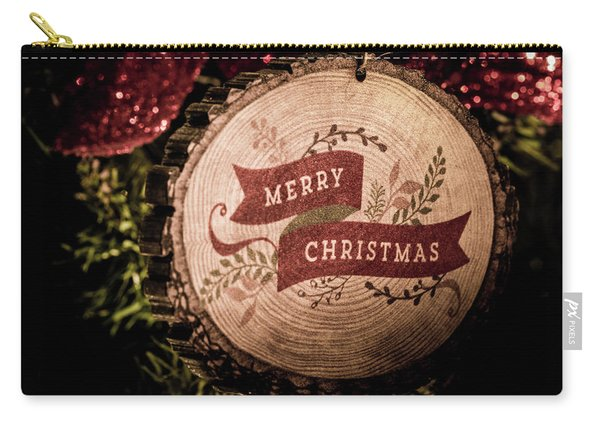 Carry-all Pouch featuring the photograph Merry Christmas by Allin Sorenson