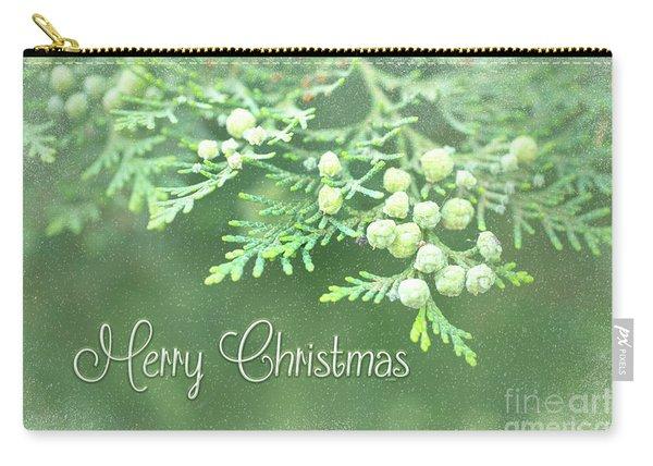 Merry Christmas - Junipir Bow Carry-all Pouch
