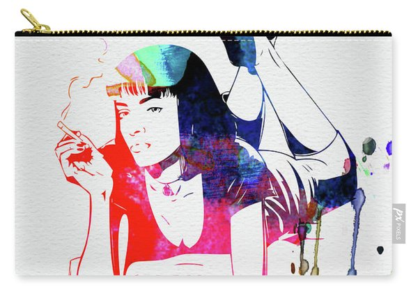 Mia Wallace Watercolor Carry-all Pouch