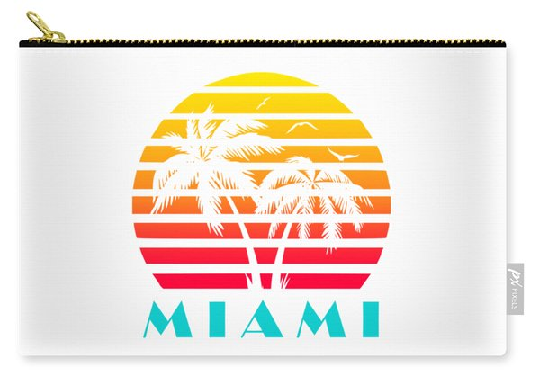 Miami 80s Tropical Sunset Carry-all Pouch