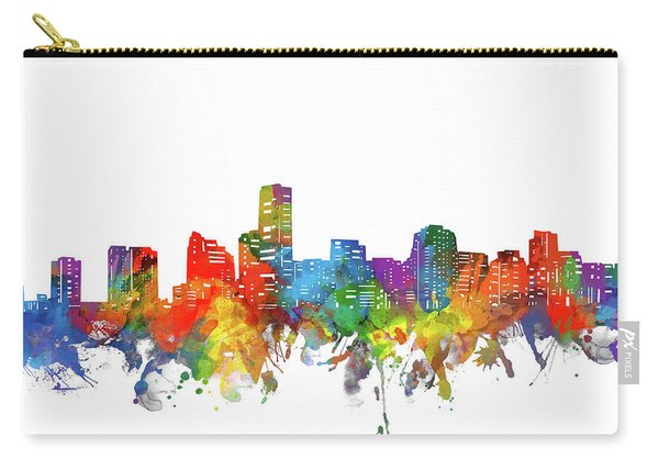 Miami City Skyline Watercolor Carry-all Pouch