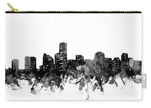 Miami Skyline Bw Carry-all Pouch