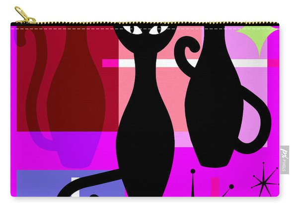 Mid Century Modern Abstract Mcm Bowling Alley Cats 20190113 M103 Carry-all Pouch