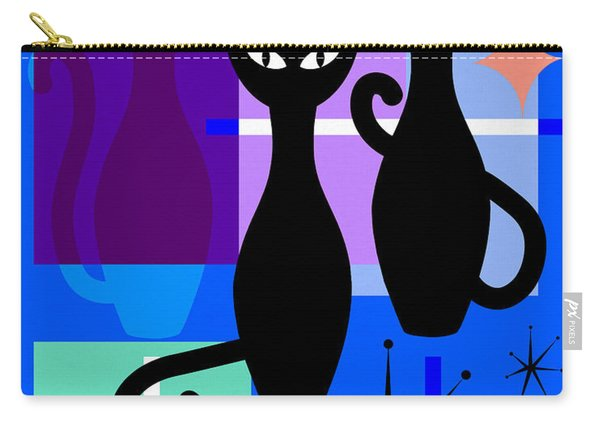 Mid Century Modern Abstract Mcm Bowling Alley Cats 20190113 M180 Carry-all Pouch