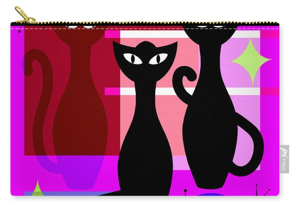 Mid Century Modern Abstract Mcm Bowling Alley Cats 20190113 Square M103 Carry-all Pouch