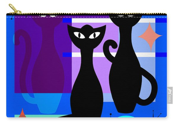 Mid Century Modern Abstract Mcm Bowling Alley Cats 20190113 Square M180 Carry-all Pouch