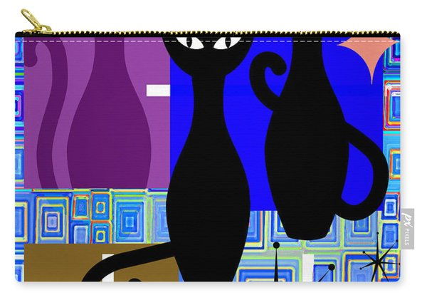 Mid Century Modern Abstract Mcm Bowling Alley Cats 20190113 V2m1 Carry-all Pouch