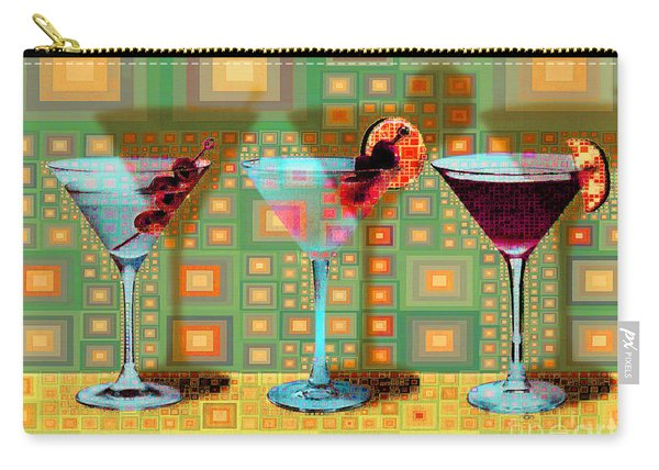 Mid Century Modern Abstract Mcm Three Martinis Shaken Not Stirred 20190127 V1a Carry-all Pouch