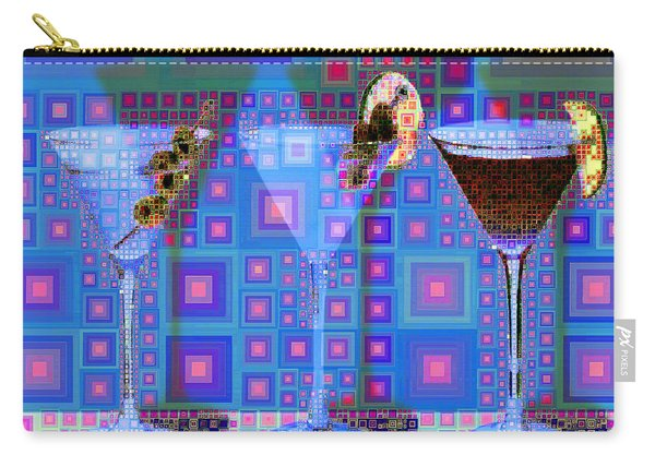 Mid Century Modern Abstract Mcm Three Martinis Shaken Not Stirred 20190127 V2 Square Carry-all Pouch