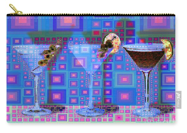 Mid Century Modern Abstract Mcm Three Martinis Shaken Not Stirred 20190127 V2a Carry-all Pouch