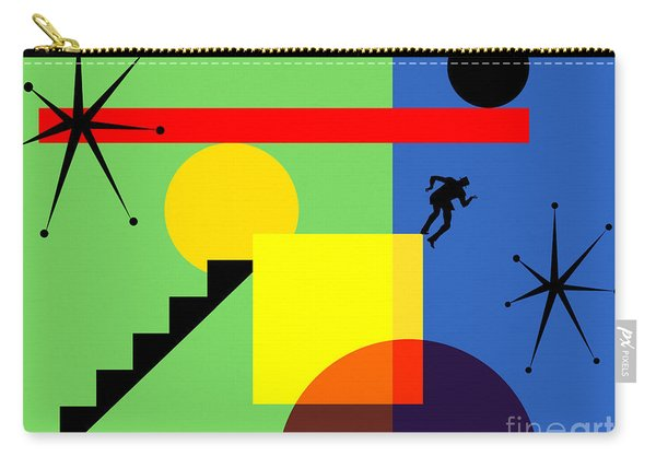 Mid Century Modern Abstract Over The Edge 20190106 Horizontal Carry-all Pouch