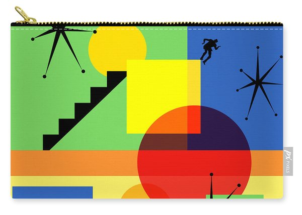 Mid Century Modern Abstract Over The Edge 20190106 Square Carry-all Pouch