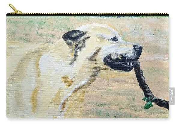 Carry-all Pouch featuring the painting Mike by Kevin Daly